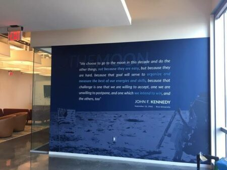 Houston wall signs and graphics motivational JFK quote - 4D Signworx